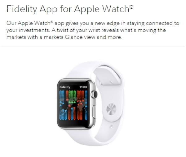 Fidelity App for Apple Watch