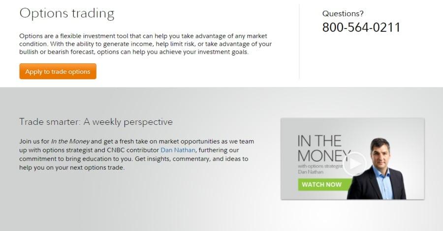 Fidelity options trading