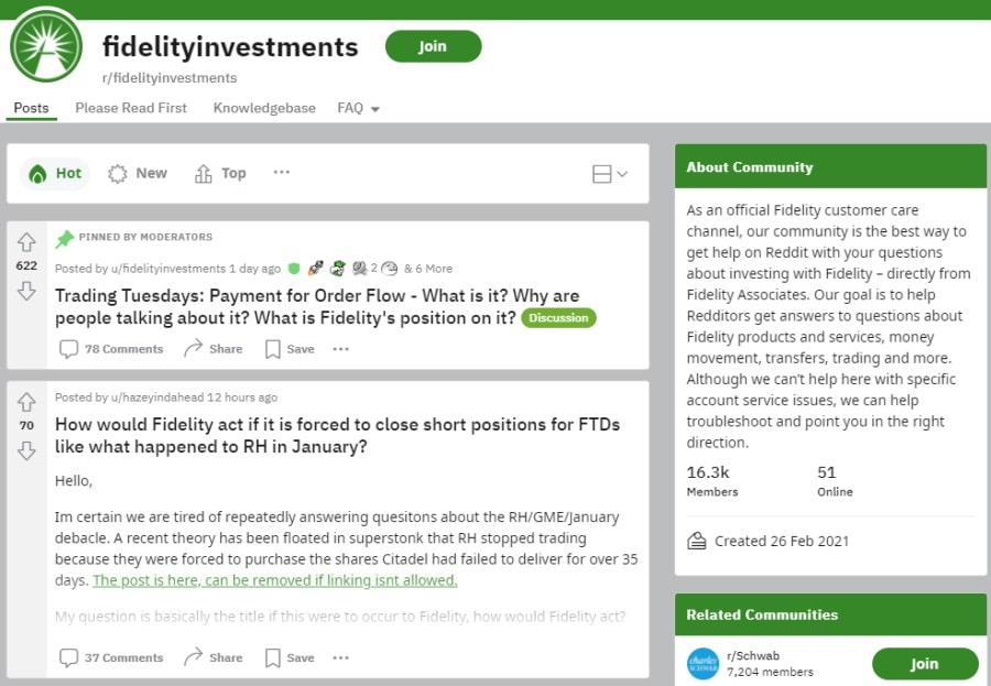 Fidelity Reddit