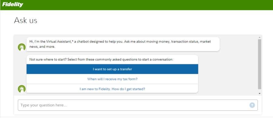 Fidelity Virtual Assistant