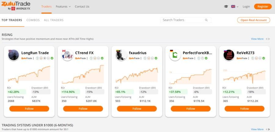 Vantage FX social trading