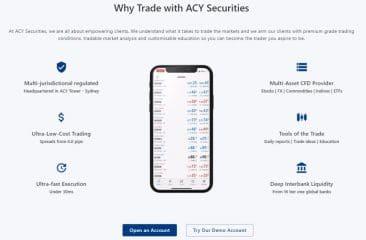 ACY Securities user experience