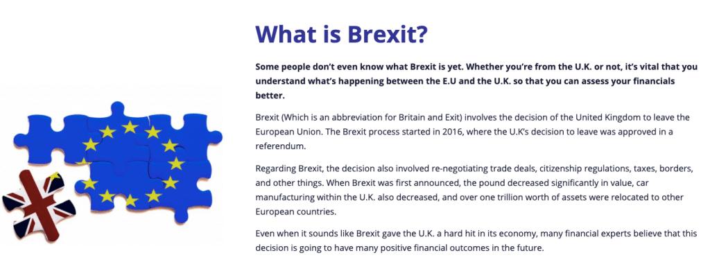 Brexit Millionaire Homepage