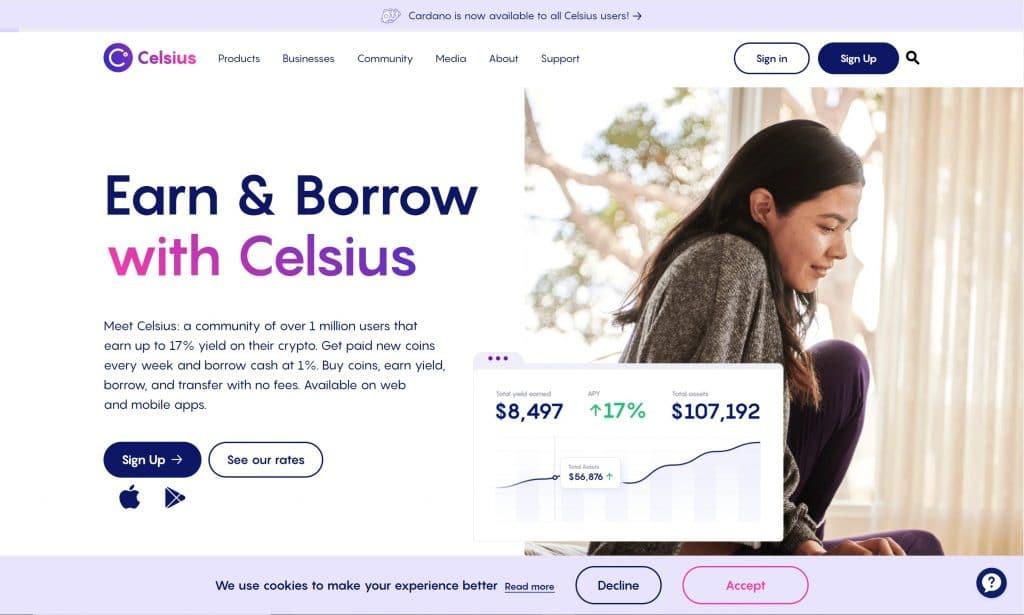 celsius loans