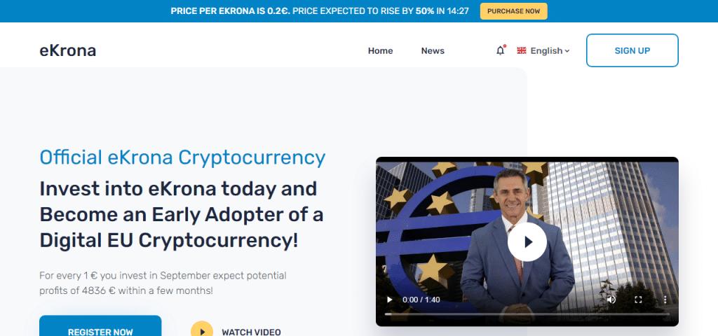 Ekrona homepage