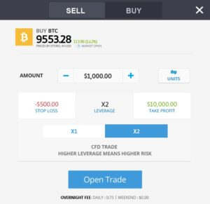 Trade Bitcoin with eToro